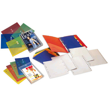 ENVELOPES, TRANSPARENT BAGS AND INDEXES