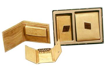 Beige Wallet & Keyholder Set