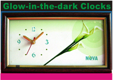 GLOW-IN-THE-DARK CLOCKS