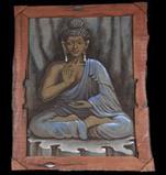 BUDDHA ON JUTE