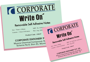 Write-On Self  Adhesive Notes