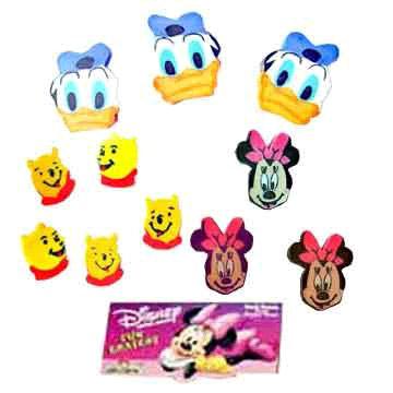 Disney erasers